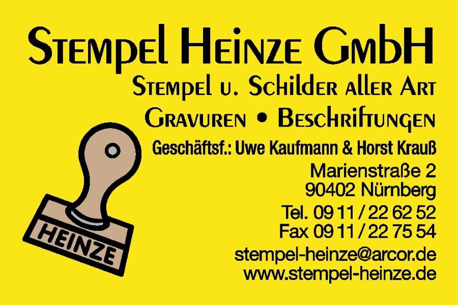 Visitenkarten Stempel Heinze Nürnberg
